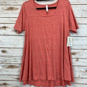 LuLaRoe Perfect T Medium Red Heather NWT